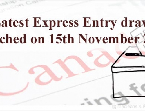 Latest Canada Express Entry draw launched on 15th November 2017