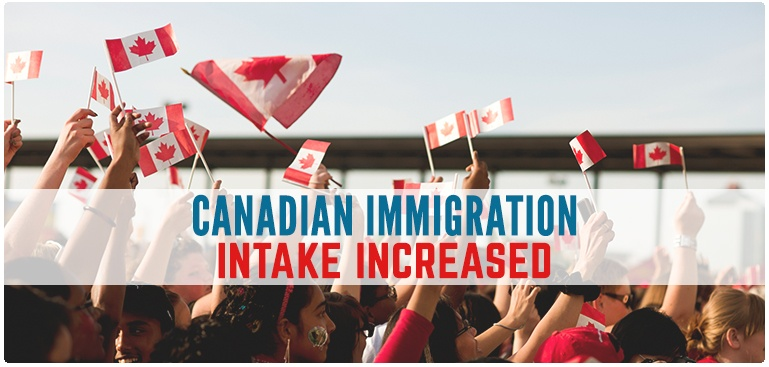 Canadian immigration intake increased